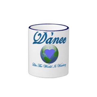 La danza como el mundo está mirando tazas