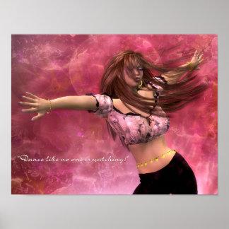 La danza como nadie está mirando posters