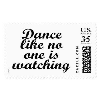 La danza como nadie está mirando sellos