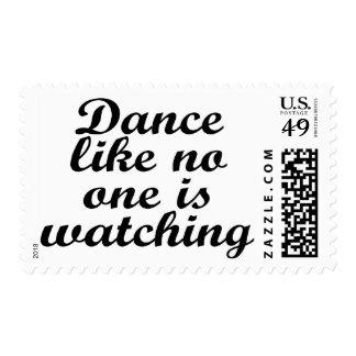 La danza como nadie está mirando sellos postales