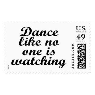 La danza como nadie está mirando timbre postal