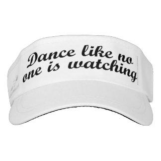 La danza como nadie está mirando visera