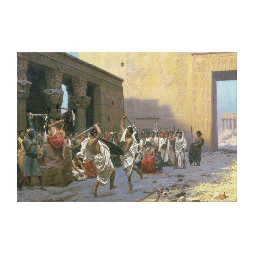 La danza de espada impresión en lienzo estirada