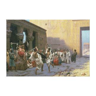 La danza de espada lona envuelta para galerías