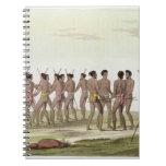 La danza de guerra de los isleños de Caroline, pla Libro De Apuntes
