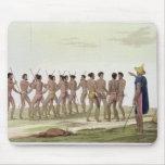 La danza de guerra de los isleños de Caroline, pla Mousepad
