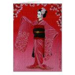 """""""La danza de la flor de cerezo"""" (Miyako Odori) Felicitacion"""