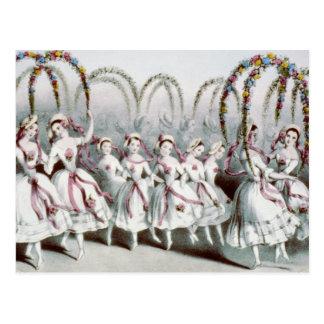 La danza de la flor tarjetas postales