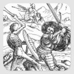 La danza de la muerte - el soldado calcomanía cuadradase
