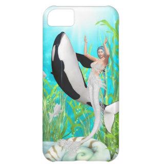 La danza de la sirena con un iPhone de la orca 5 c