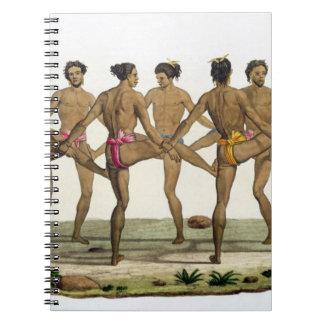 La danza de los isleños de Caroline, platea 22 del Note Book