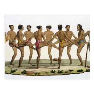 La danza de los isleños de Caroline, platea 22 del Postal