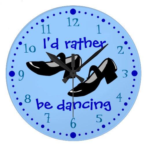 La danza de Mary Janes calza la identificación est Reloj Redondo Grande