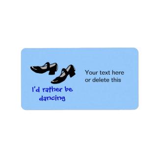 La danza de Mary Janes calza la identificación Etiqueta De Dirección