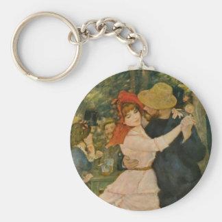 La danza de Pierre-Auguste Renoir en Bougival Llavero Redondo Tipo Pin