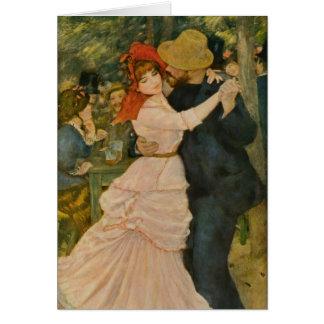 La danza de Pierre-Auguste Renoir en Bougival Tarjeta De Felicitación