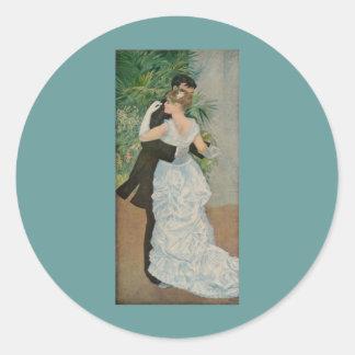 La danza de Pierre-Auguste Renoir en la ciudad Pegatinas Redondas