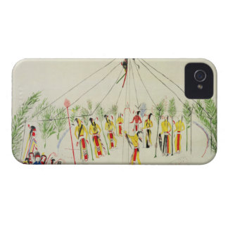 La danza de Sun del Shoshone (pigmento en la iPhone 4 Case-Mate Protector