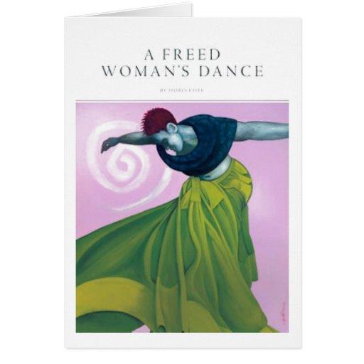 La danza de una mujer liberada tarjeta