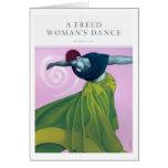La danza de una mujer liberada tarjetas