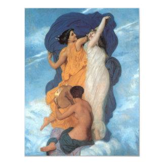 """La danza de William-Adolphe Bouguereau Invitación 4.25"""" X 5.5"""""""