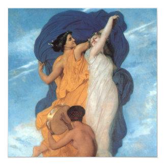 """La danza de William-Adolphe Bouguereau Invitación 5.25"""" X 5.25"""""""