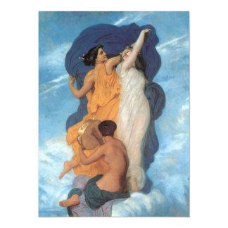 """La danza de William-Adolphe Bouguereau Invitación 5.5"""" X 7.5"""""""
