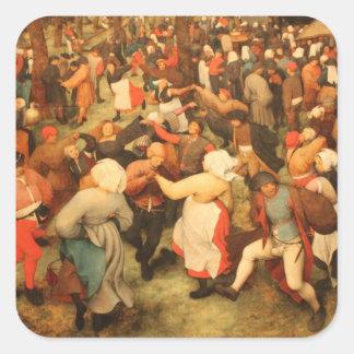 La danza del boda - 1566 pegatinas cuadradas