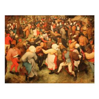 La danza del boda - 1566 postal
