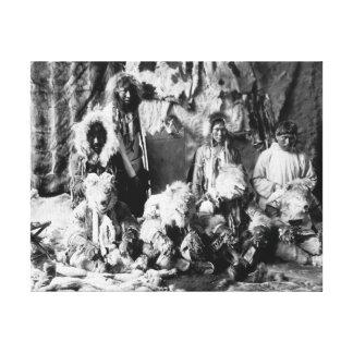 La danza del lobo del Kaviagamutes Impresiones En Lona Estiradas