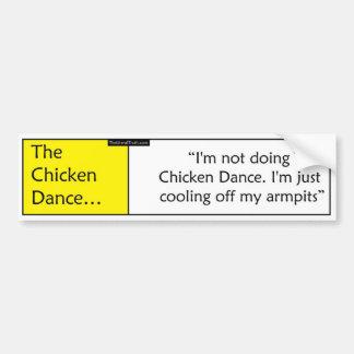 La danza del pollo pegatina para auto