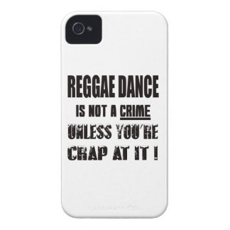 La danza del reggae no es un crimen Case-Mate iPhone 4 cobertura
