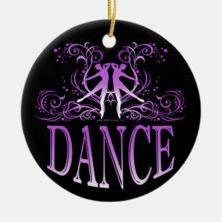 La danza enrolla el ornamento de la porcelana adorno redondo de cerámica