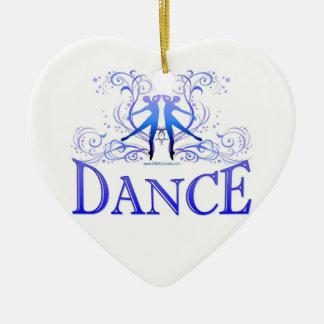 La danza enrolla el ornamento del corazón de la po adornos