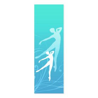 La danza enrolla señales/tarjetas de visita tarjetas de visita mini