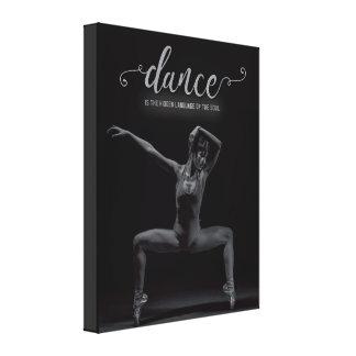 La danza es la lengua del alma - lona impresión en lienzo