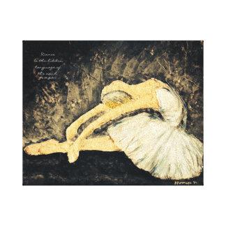 La danza es la lengua ocultada impresión en lienzo