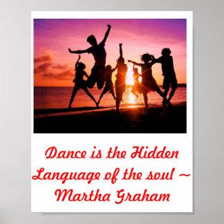 La danza es la lengua ocultada para el poster del