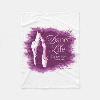 La danza es vida manta de forro polar
