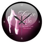 La danza es vida relojes de pared