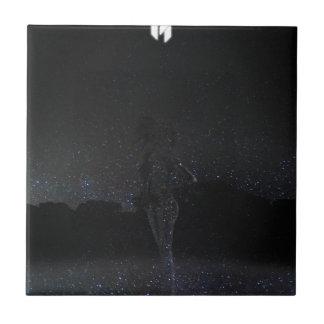La danza galáctica de la firma azulejo cuadrado pequeño