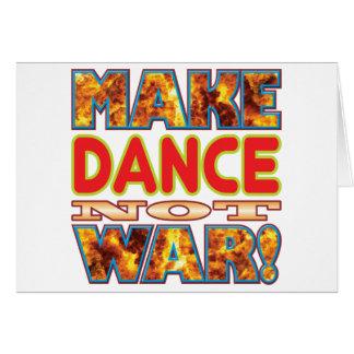 La danza hace X Tarjeta De Felicitación