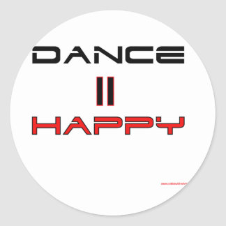 La danza iguala feliz pegatina redonda