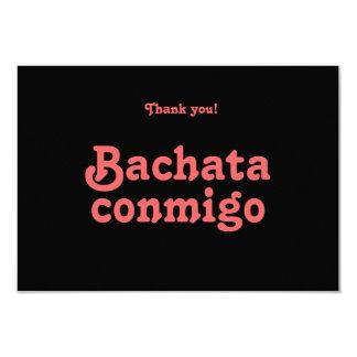 La danza latina de Bachata Conmigo le agradece las Invitación 8,9 X 12,7 Cm