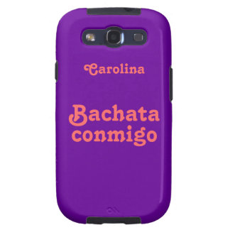 La danza latina Samsung de encargo de Bachata Conm Galaxy S3 Funda