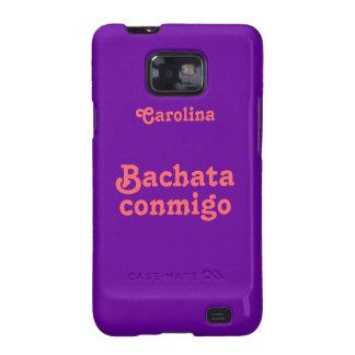 La danza latina Samsung de encargo de Bachata Galaxy S2 Carcasas