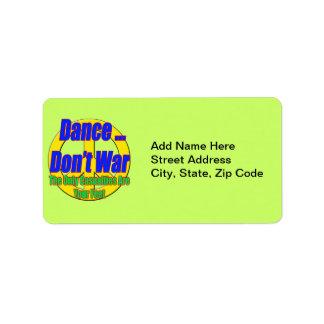 La danza no guerrea etiqueta de dirección