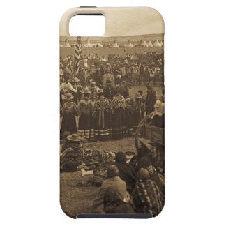 La danza que elige de los Blackfeet (sepia) iPhone 5 Cárcasa