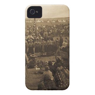 La danza que elige de los Blackfeet (sepia) Case-Mate iPhone 4 Cárcasa