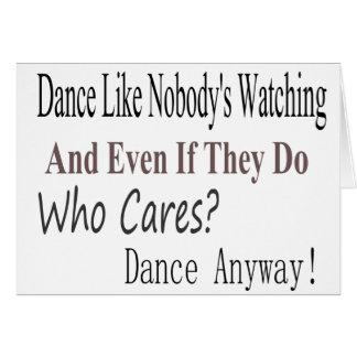 La danza tiene gusto de nadie que mira tarjetón